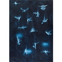falling birds #3 by ross bleckner