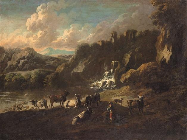 paesaggio pastorale by philipp peter roos