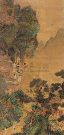 宫女图 by qiu ying