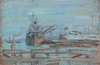 cargo dans le port de tunis by jules lellouche