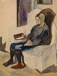 kostya in an armchair by fedor platov