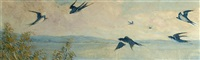 swallows in flight by frederick william hutchison