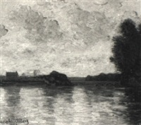 a bridge on the seine by adolphe albert