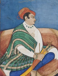 a portrait of maharaja jankoji rao sindhia of gwalior by anonymous-indian (19)