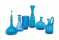 untitled (6 works) by blenko glass company