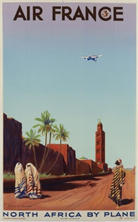 air france - north africa by plane by maurice guiraud-rivière