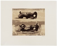 two reclining figures by henry moore