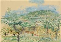 paysage en sanary by wilhelm thöny