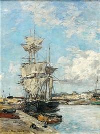 trouville, le port by eugène boudin