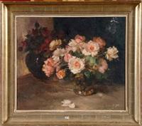 vases de roses by aristide goffinon