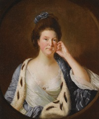 portrait of lucy stafford, later mrs wilkinson by joseph wright (of derby)
