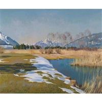 vorfrühling mit stockhorn by marcus jacobi