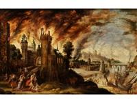 der brand von troja by kerstiaen koninck