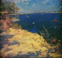 a la plage by piotr smoukrovitch