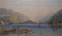 north italian lake scene by richard principal leitch