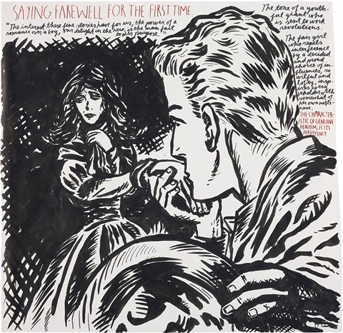untitled saying farewell for the first time by raymond pettibon