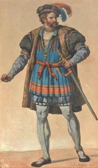 gentilhomme en costume renaissance by etienne raffort