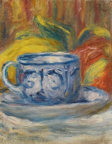 tasse et fruits by pierre auguste renoir