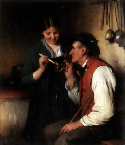 lighting grandfather's pipe by josef miller