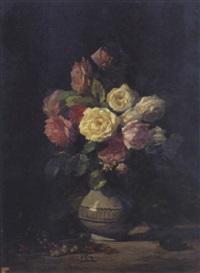 bouquet de fleurs by louis marie lemaire