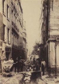 prolongement de la rue monge (various sizes; album w/18 works) by h. godefroy