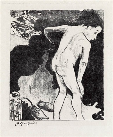 baigneuses bretonnes from 10 zincographies by paul gauguin