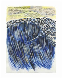 untitled (the sea the) by raymond pettibon