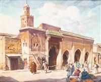 entrée de la mosquée, maroc by louis john endres