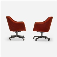 office chairs (pair) by ward bennett