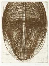 głowa - z cyklu katharsis by magdalena abakanowicz