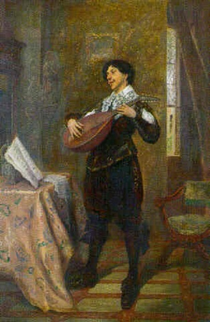 the mandolin player by jacques henri jean lambert