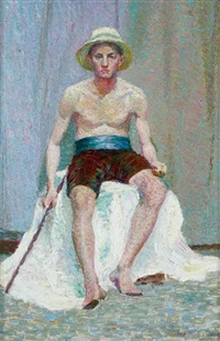 seated man by tempe manning