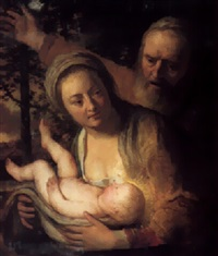 the holy family by jacques des rousseaux