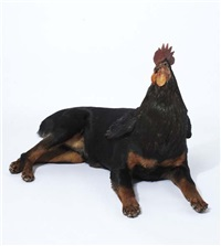 dog/rooster (from the misfits series, not dated) by thomas grünfeld