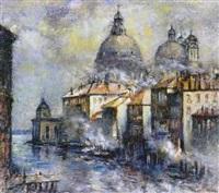 blick auf santa maria della salute und venezianischen kanal by erhard theodor astler
