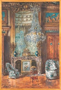 intérieur de château by gaston gélibert