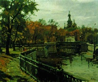 la rivière moyka d'automne by nikolai repine