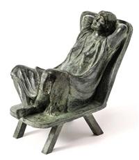 mujer sentada by carlos aguirre
