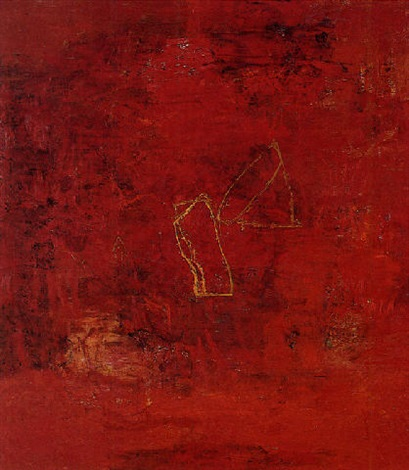 red painting 1 by ricardo mazal