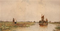 bord de canal en hollande by archibald webb