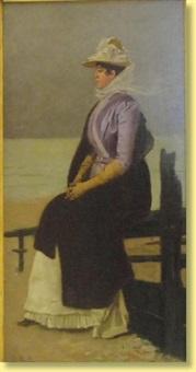jeune femme en bord de mer by paul emile antony morlon