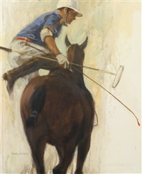 polo player mounting by henry koehler