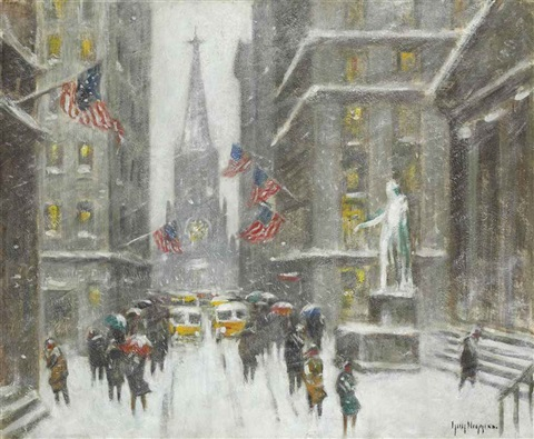 wall st winter by guy carleton wiggins