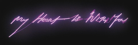 my heart is with you by tracey emin