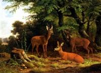 deer in a park by wilhelm reinhardt