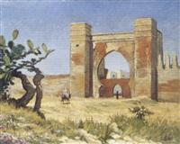 salé, bâb mrisa (porte du mellah) by louis audouin
