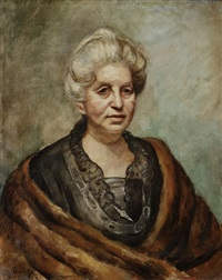 femme à l'étole by roman kramsztyk