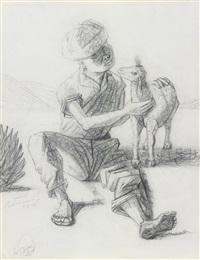 berger avec une chèvre by candido portinari