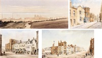 bootle church, liverpool (+ 3 others; 4 works, various sizes) by william gawin herdman