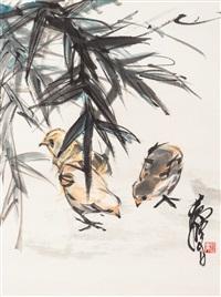小雞圖 (poults) by huang zhou